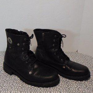 Harley Davidson Black Moto Biker Boots Size 11